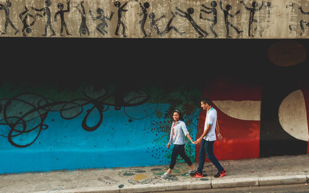 Na avenida paulista foi realizado o ensaio de casais da Camila e Darlin
