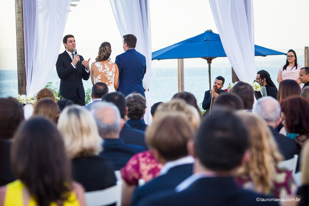 Raphael Faraco fez a celebração do Casamento