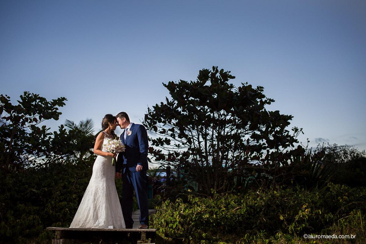 Ingrid e Raphael após a cerimônia de casamento