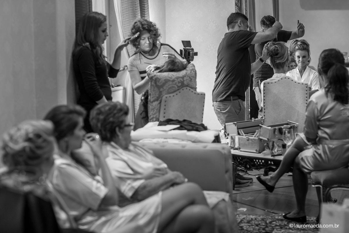 Making Of Camila com mãe avó e amigas