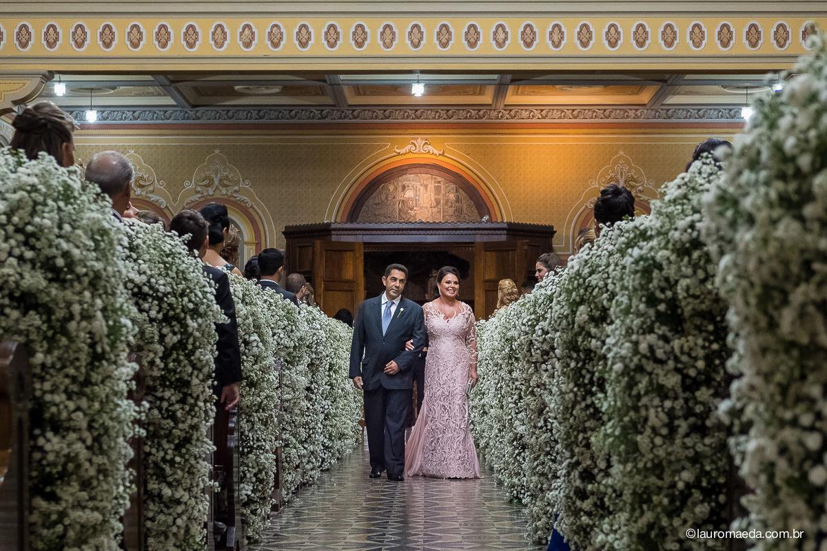 entrada dos pais dos noivos