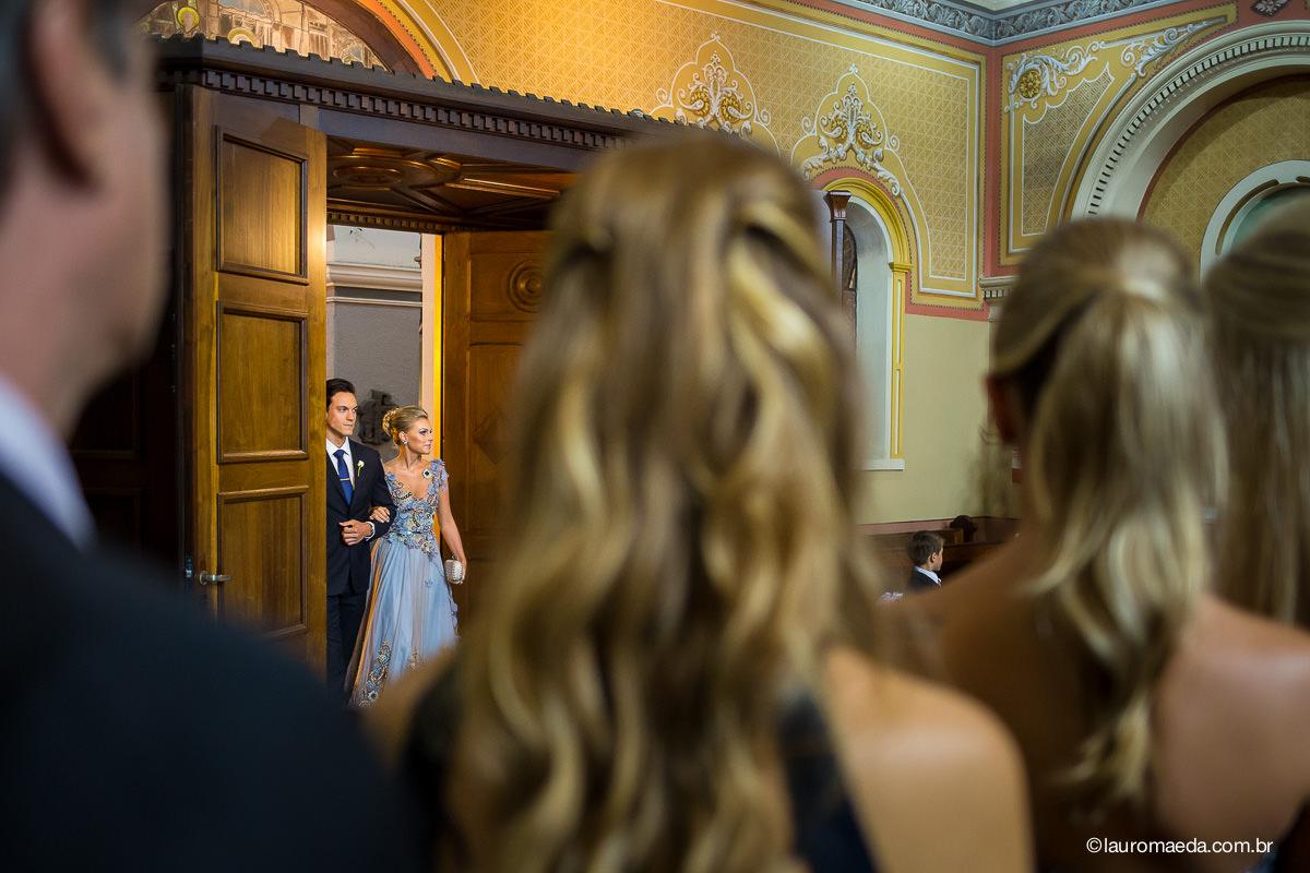 entrada dos padrinhos do casamento