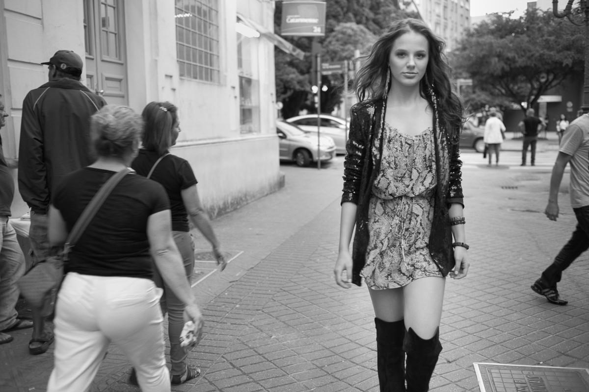 Isabela nas ruas do centro