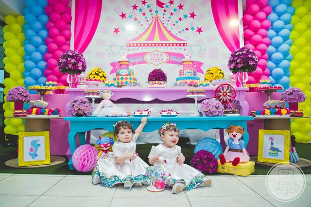 Festa Infantil de Júlia & Clara fazem 1 | Circo