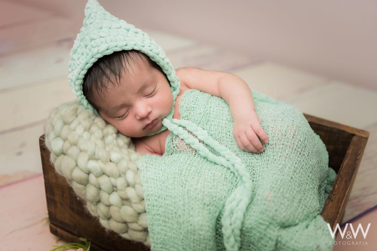 newborn  menina verde são paulo estudio wewfotografia