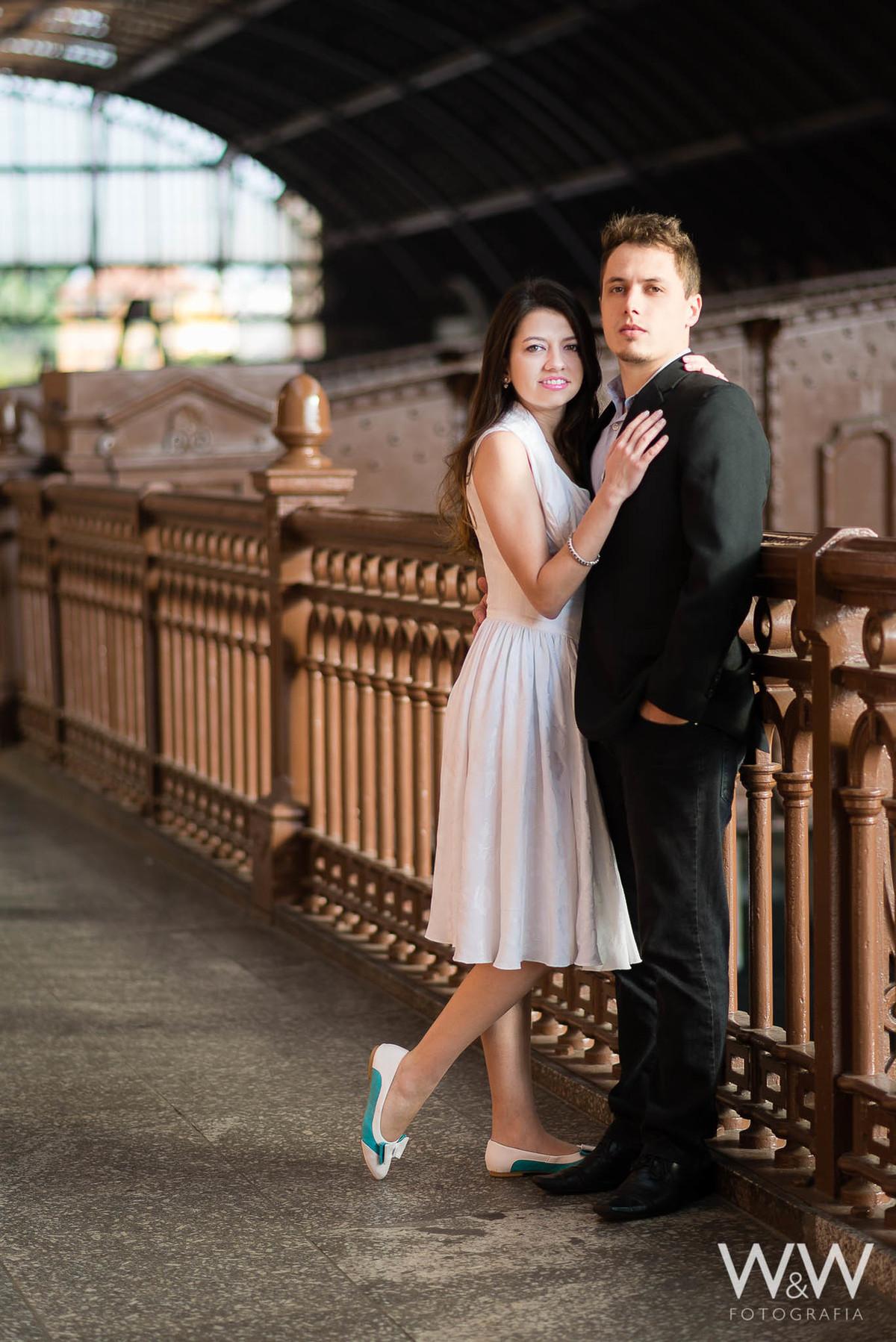 pré-wedding ensaio casal são paulo estação da luz vintage clássico