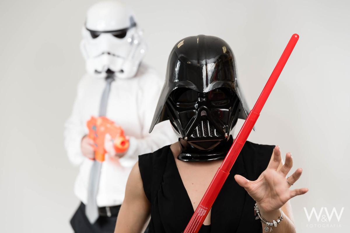 ensaio casal temático star wars stormtroopers darth vader wewfoto são paulo estúdio