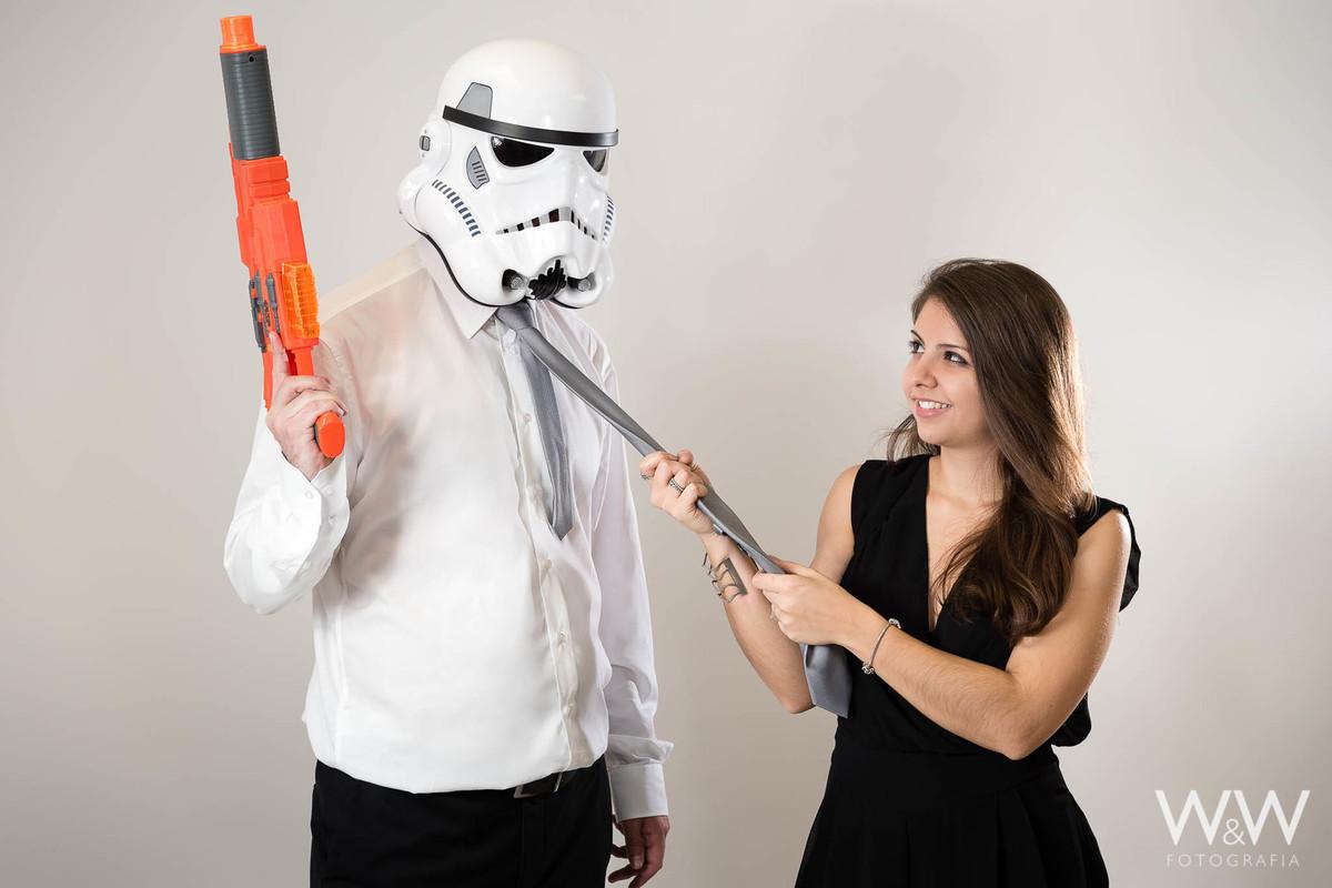 ensaio casal temático star wars stormtroopers wewfoto são paulo estúdio