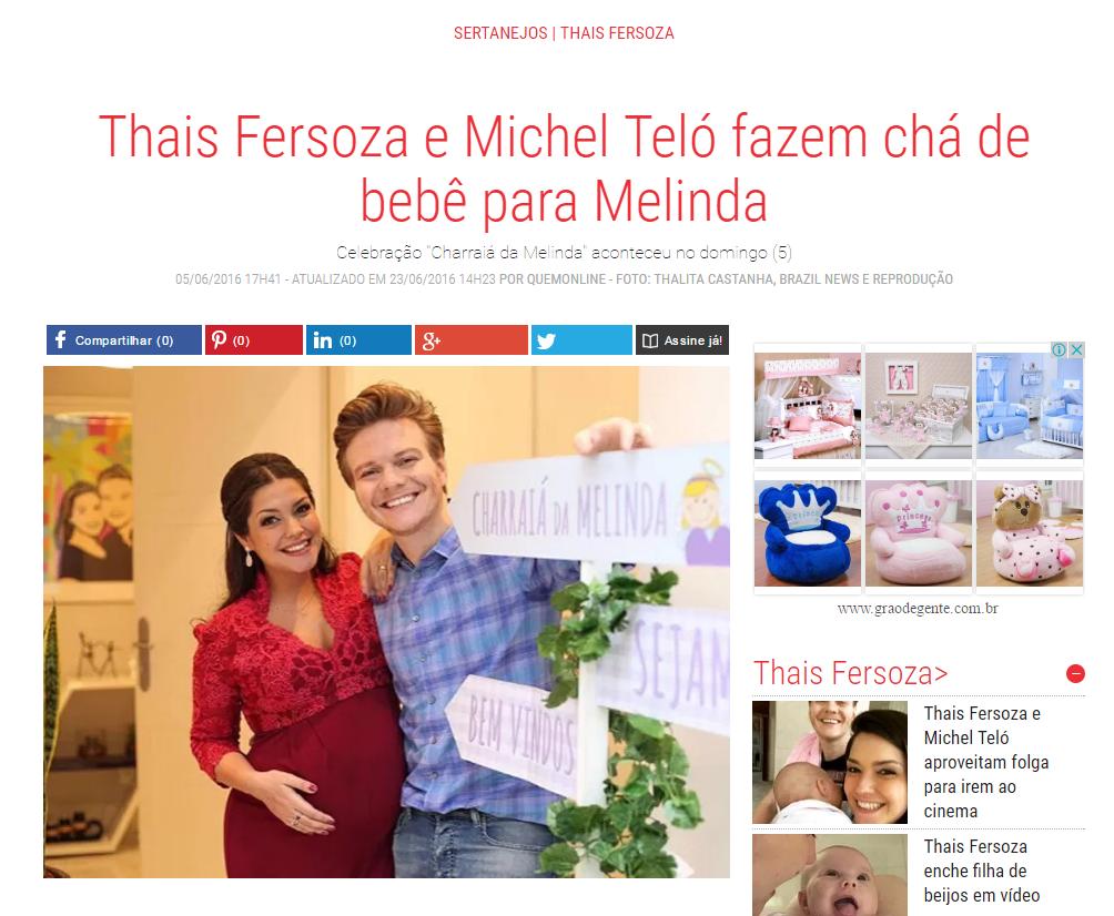 Imagem capa - Thais Fersoza e Michel Teló fazem chá de bebê para Melinda por Thalita Castanha