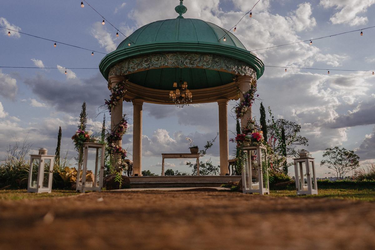 Cúpula do Villa Giardini. Foto pelo fotógrafo de casamento Gabriel Pelaquim.