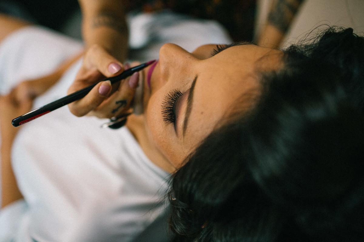 Making Of da noiva Lidiane realizado no Bem Feito Studio em Brasília