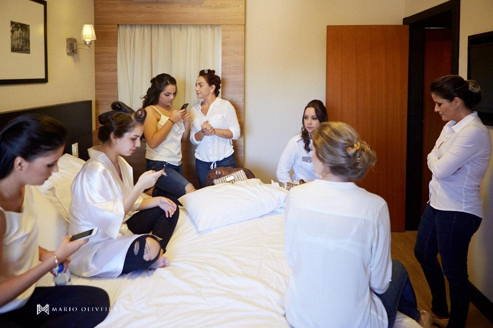 making of da noiva no hotel cambirela madrinhas e noiva na cama