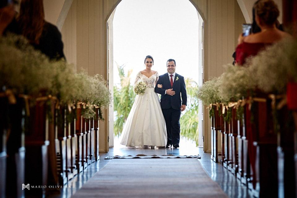 casamento na igreja nossa senhora de fatima entrada da noiva com o pai