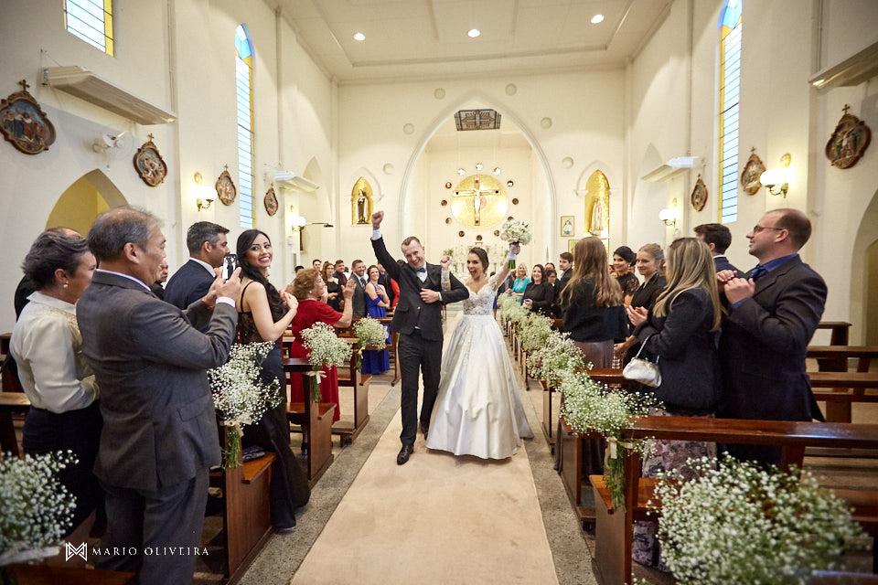 casamento na igreja nossa senhora de fatima, saida dos noivos