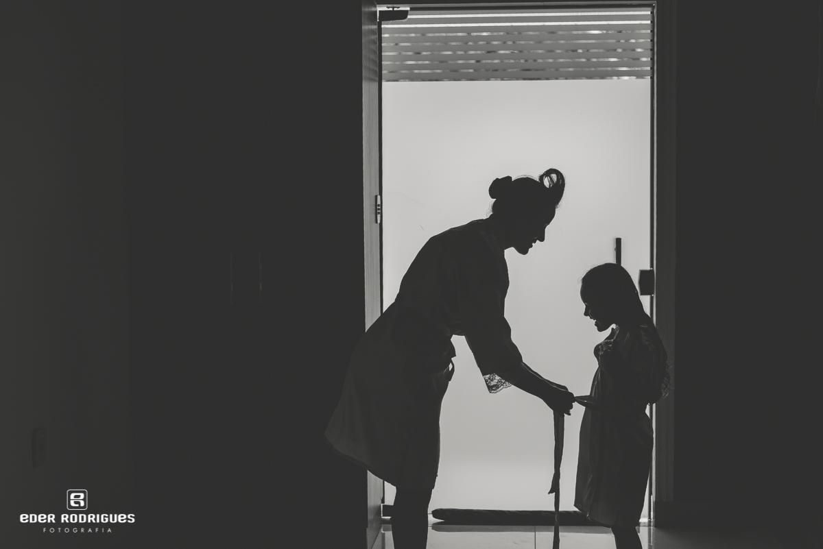 Madrinha e daminha da noiva no making of