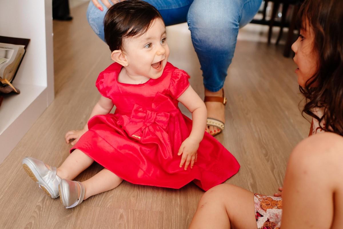 Foto de Antonela, seu primeiro aniversário