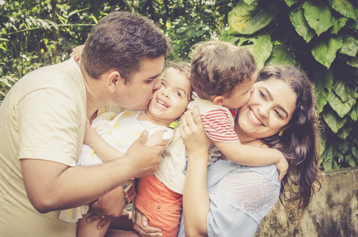 momento de intimidade da familia