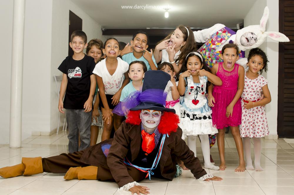 Crianças da Festa fazendo careta para a foto