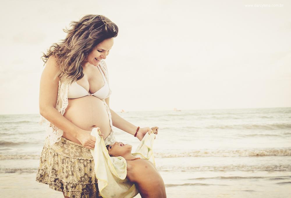 momento de descontração entre mãe e filho