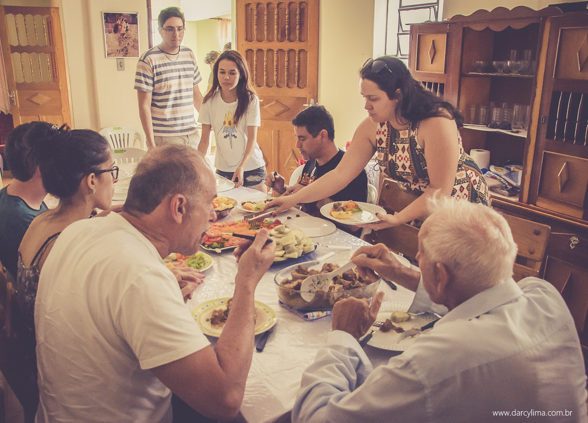 almoço em familia da noiva