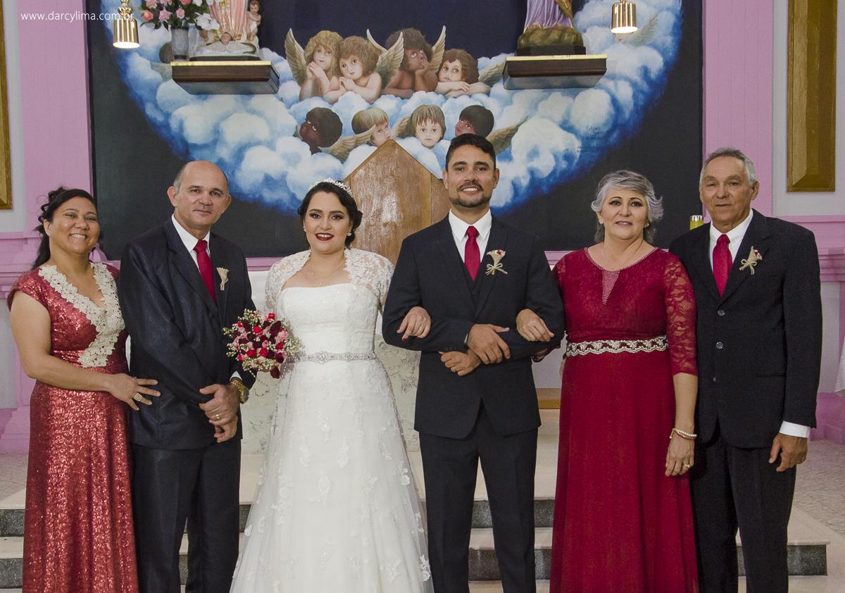 familias da noiva e noivo reunidos