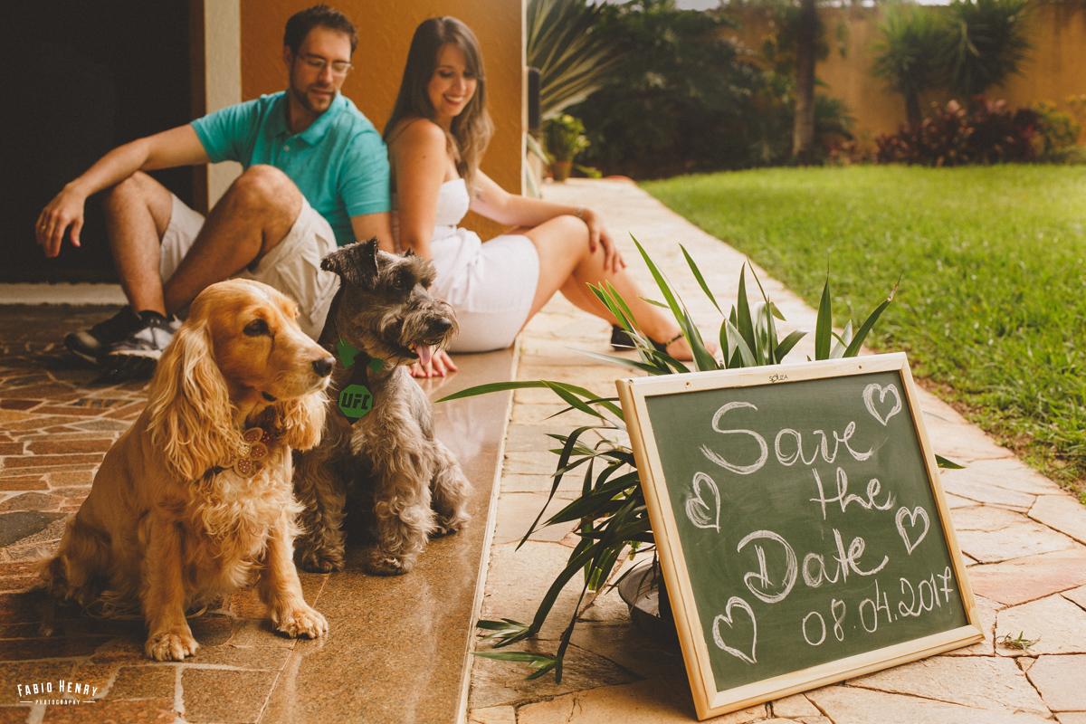 pré casamento com cachorros