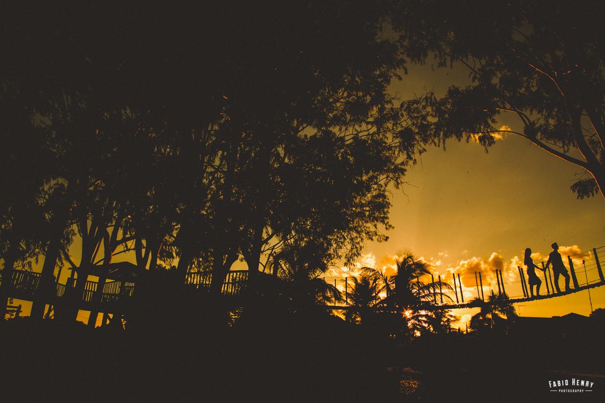 foto na por do sol ponte
