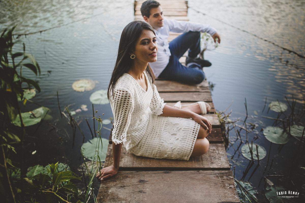 foto do casal no tablado