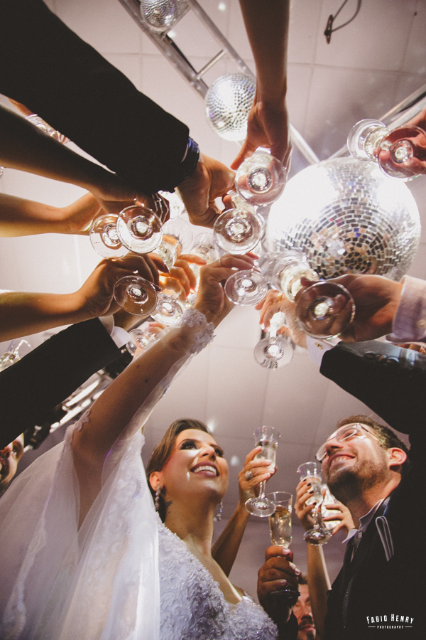 primeiro brinde de casados