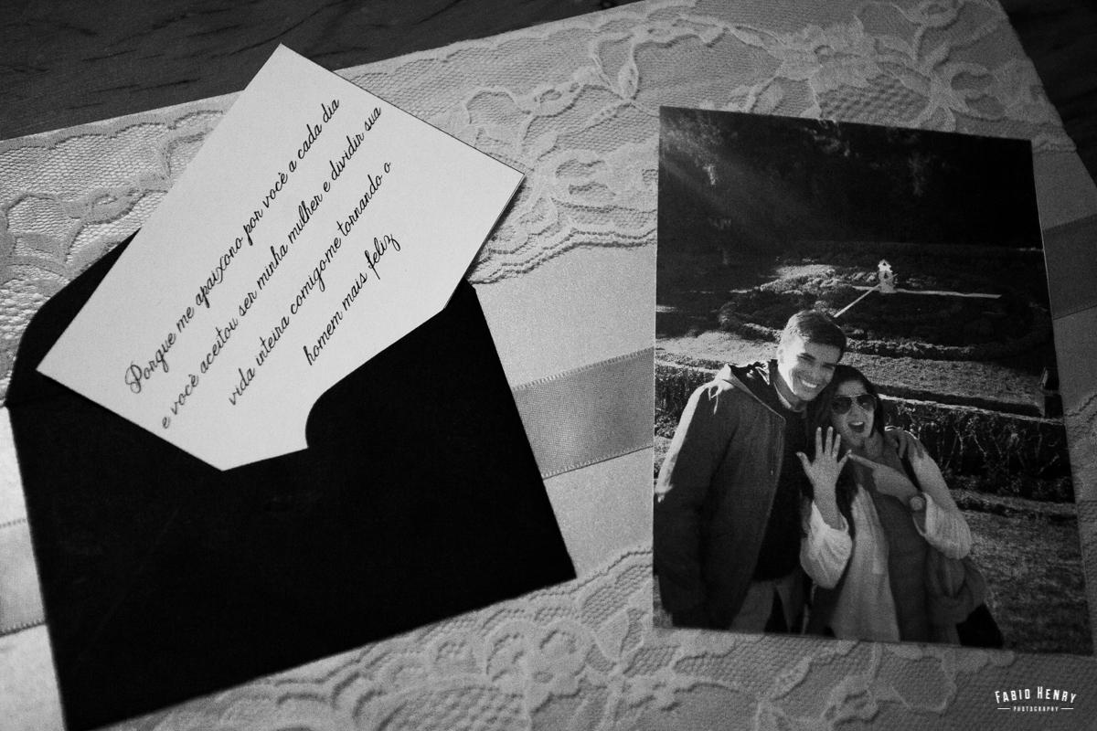 bilhete que o noivo deixou para a noiva no dia do casamento