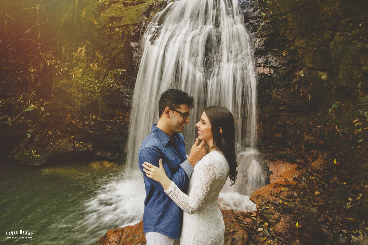 ensaio pré casamento cachoeira