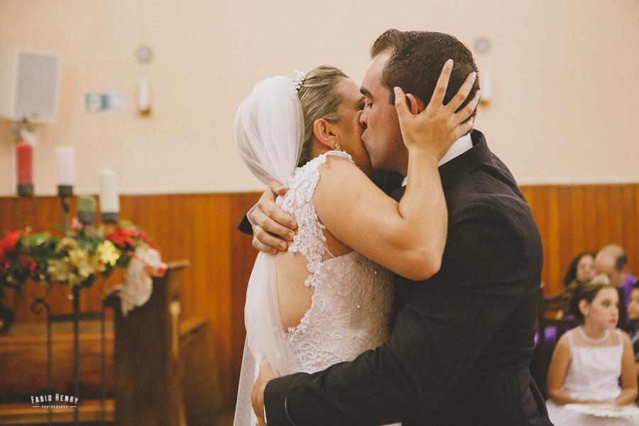 foto de casamento com emoção