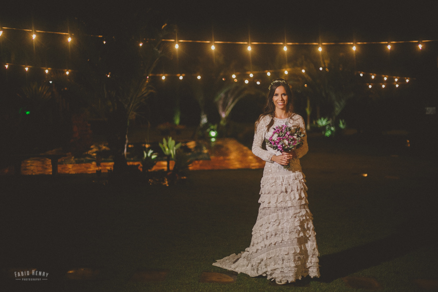 casamento com luzes luizinhas