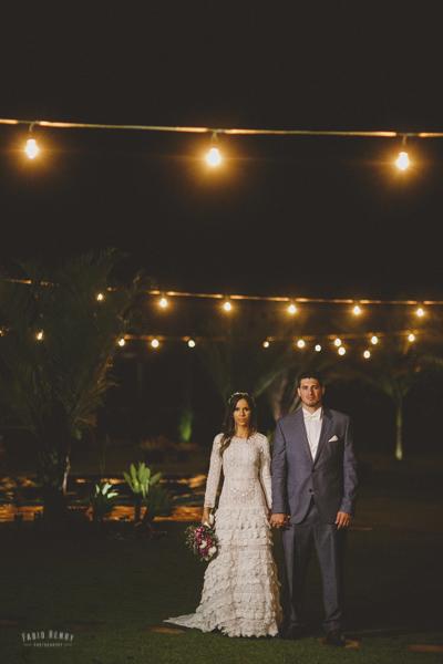 casamento com luzes
