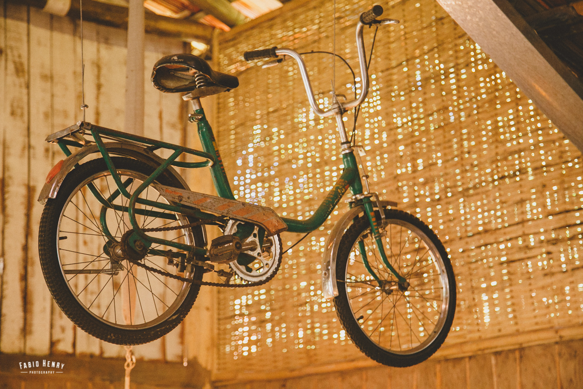 bicicleta como decoração no casamento
