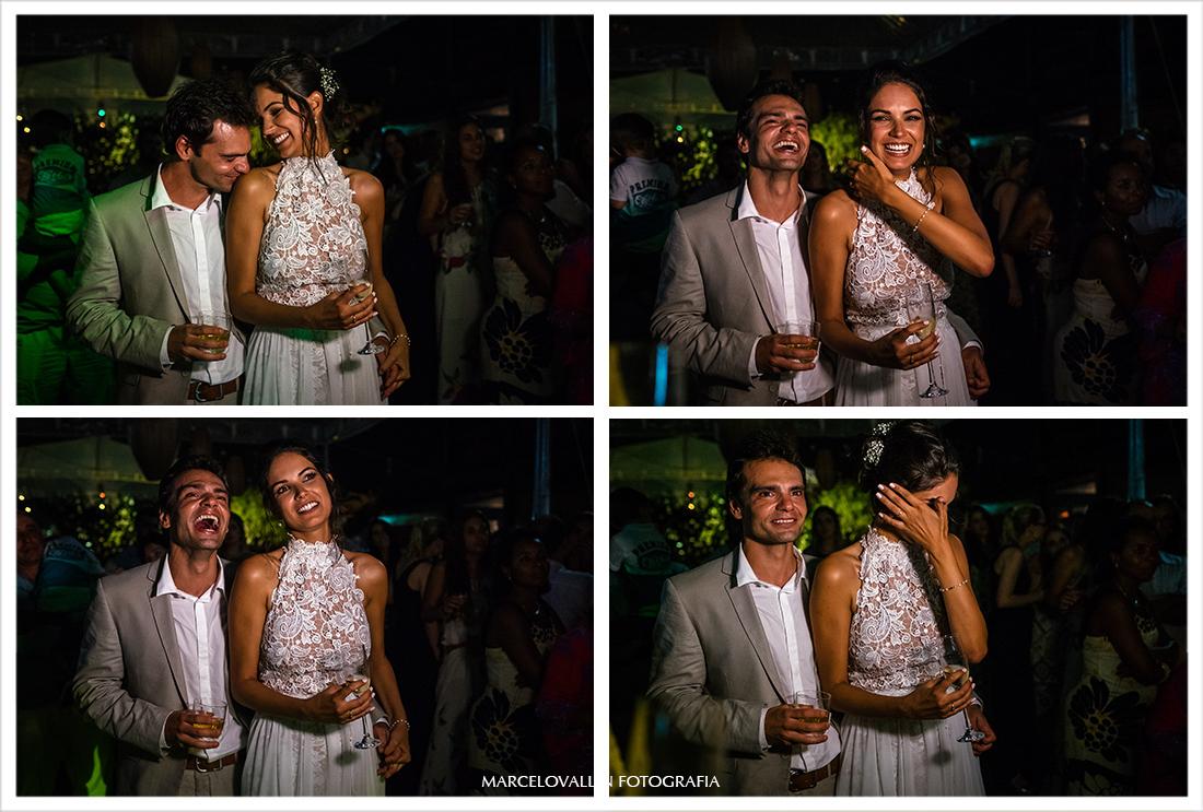 noivos em festa de casamento em Arraial do Cabo