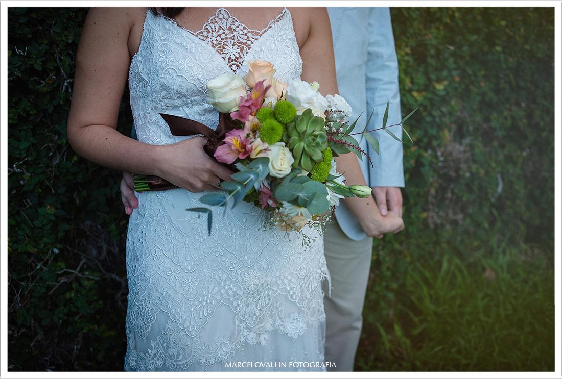 Foto do Buquê da Noiva em ensaio fotográfico