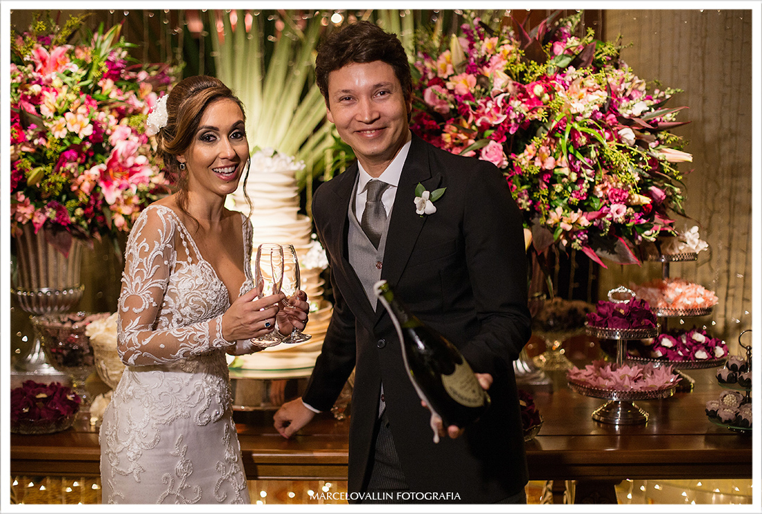 Brinde dos noivos - Marcelo Vallin Fotografia