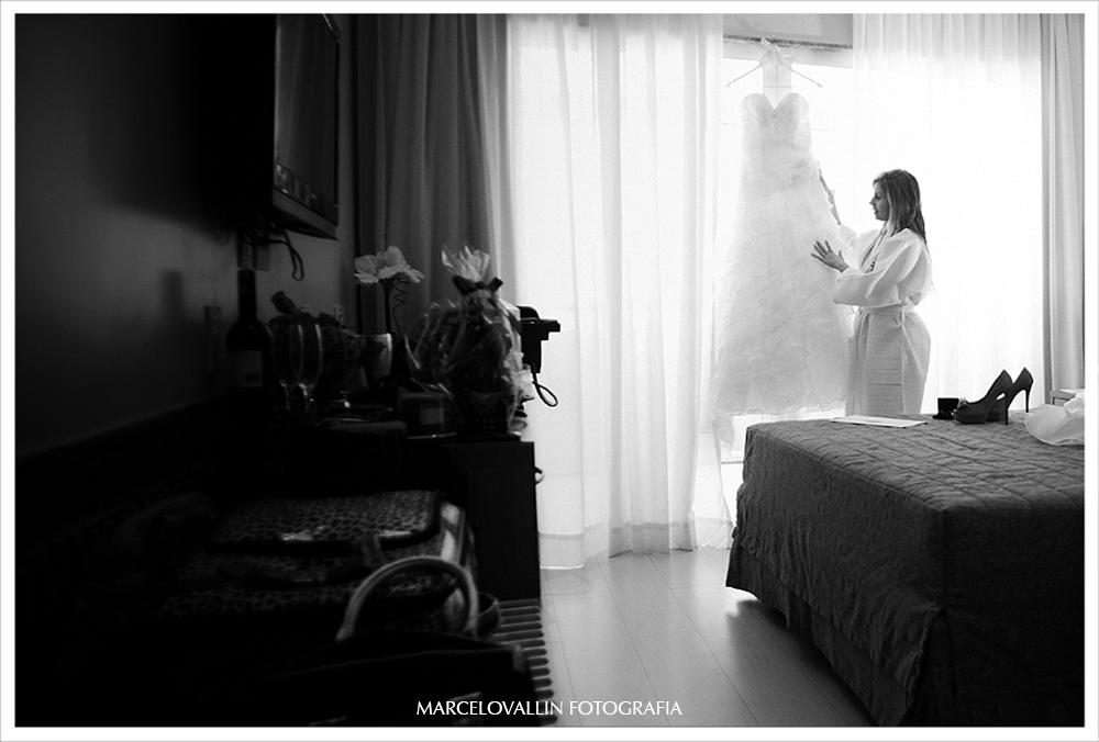foto de casamento - noiva com vestido