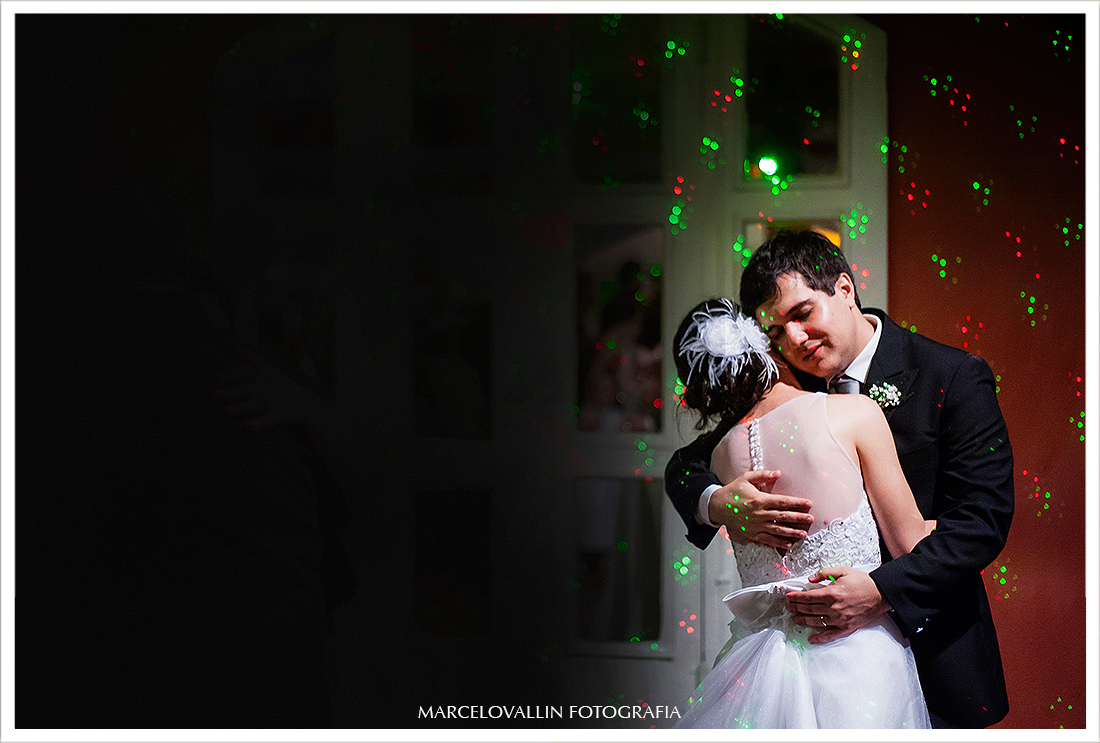 Foto da primeira dança dos noivos - Quinta do Chapecó