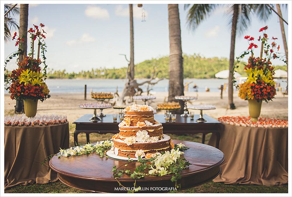 Fotografia de Casamento - Bolo de Casamento - Praia dos Carneiros PE