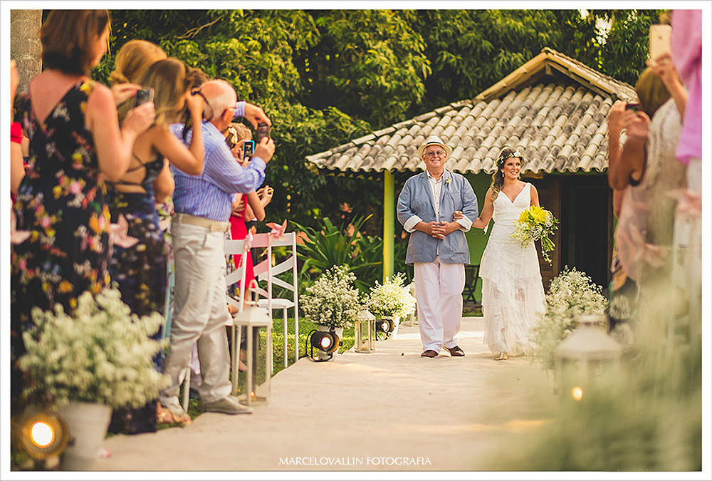 Fotografia de Casamento - entrada da noiva - Praia dos Carneiros PE