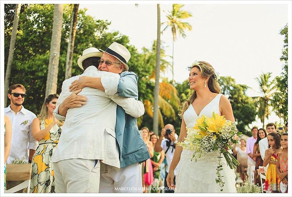 Fotografia de Casamento - Cerimonia - Praia dos Carneiros PE