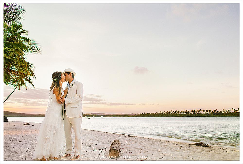 Fotografia de Casamento - Ensaio pós Casamento - Praia dos Carneiros PE