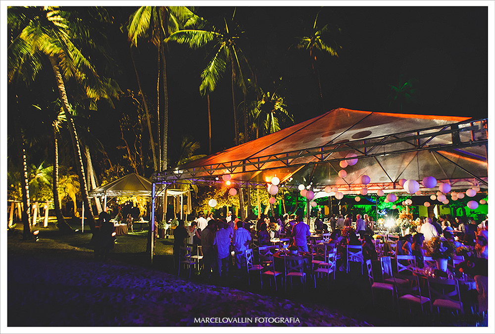 Fotografia de Casamento - Festa de casamento - Praia dos Carneiros PE