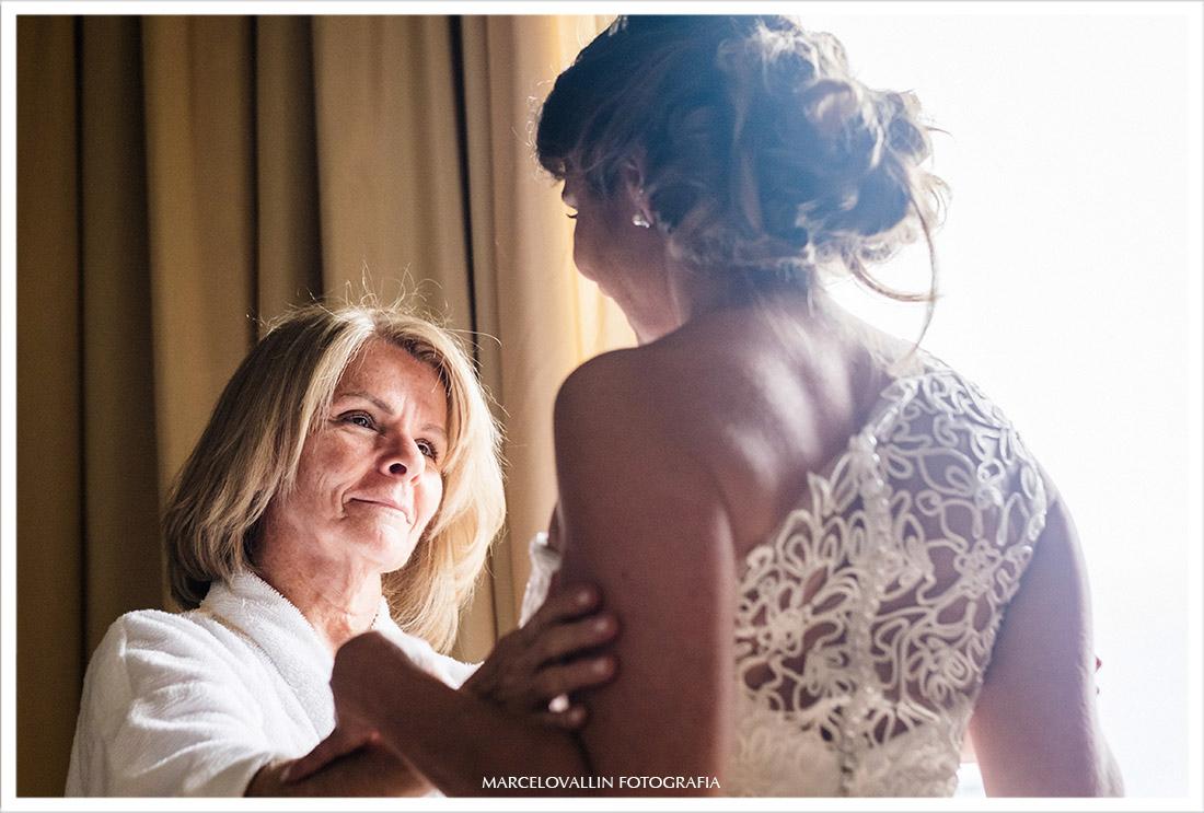Foto de making of mãe e noiva