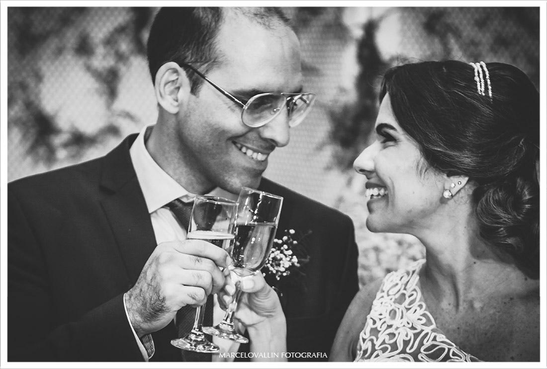 Foto do Brinde dos noivos
