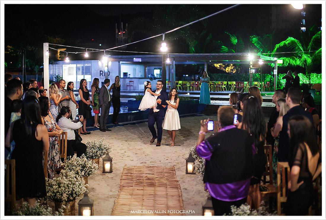 Foto da cerimonia Mini Wedding Clube Naília Eventos