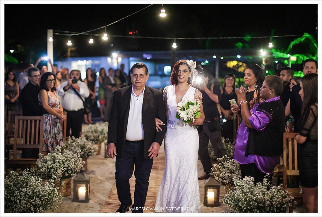 Fotografia de Cerimonia de casamento no clube Naília Eventos