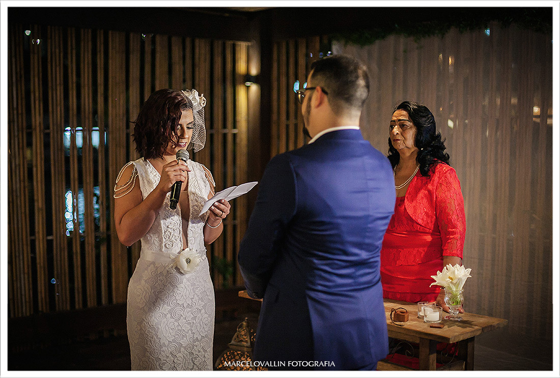 Foto dos votos da noiva no clube Naília Eventos